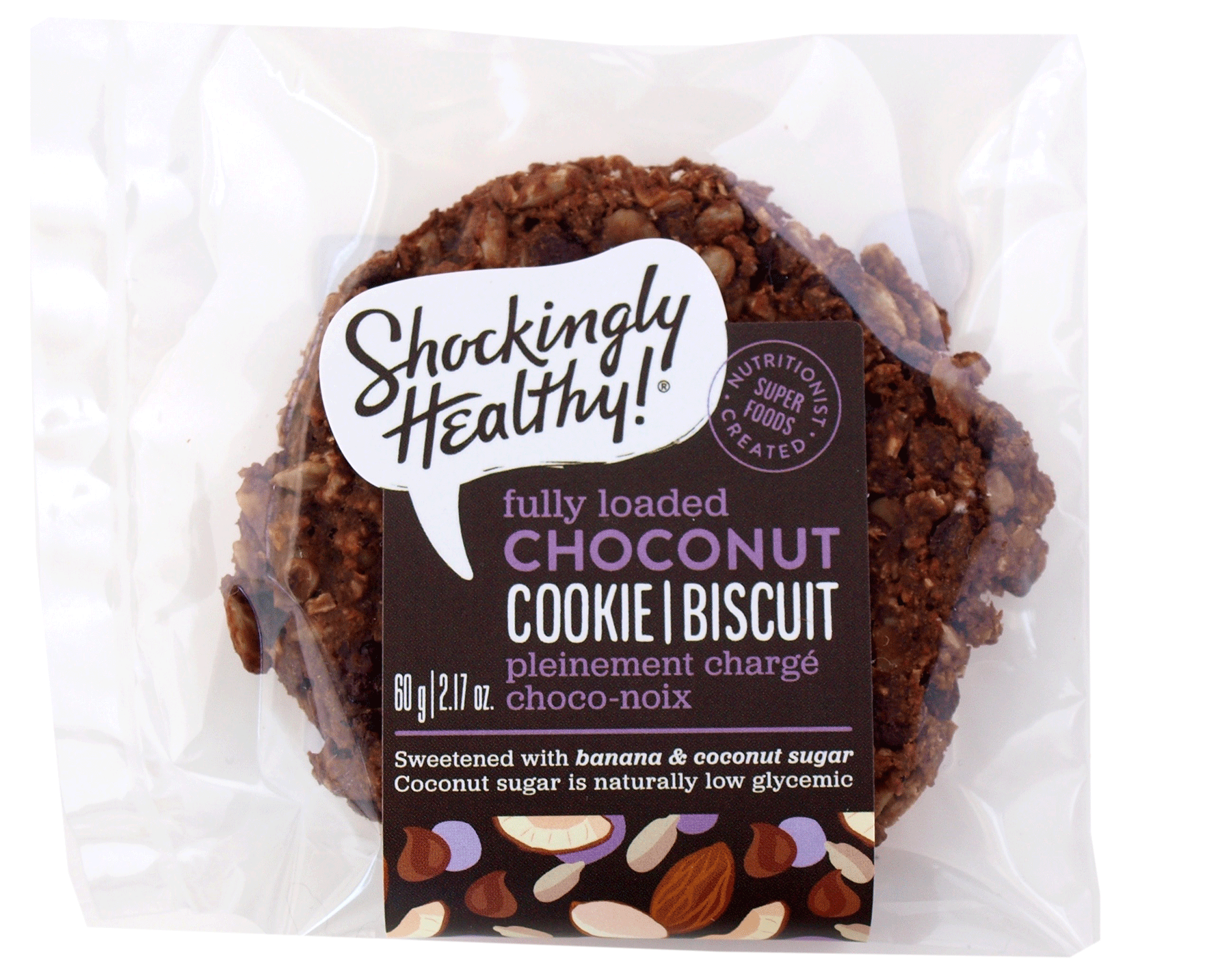 Choconut Cookie- Healthy cookie, healthy snack healthy dessert.