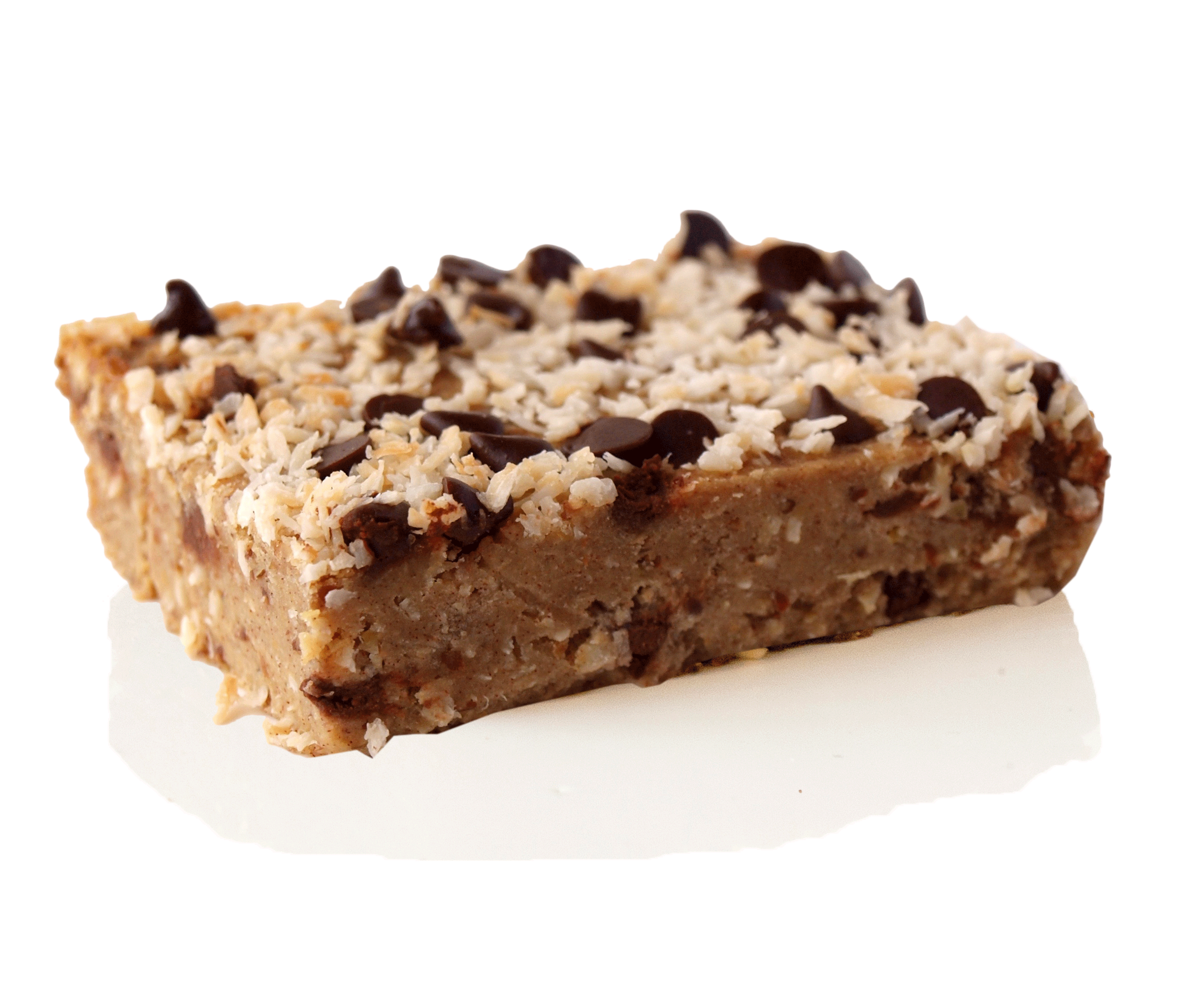Coconut Blondie- made of healthy ingredients. Delicious healthy dessert.