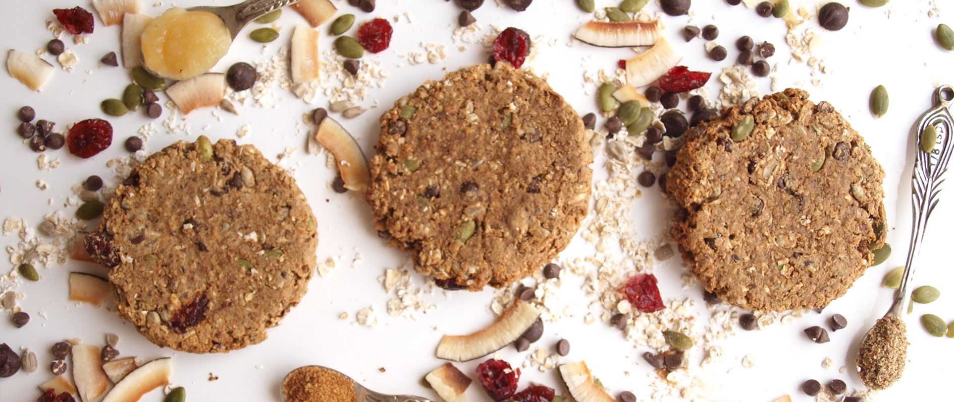 Fully Loaded Cookie- made of healthy ingredients. Delicious healthy dessert.